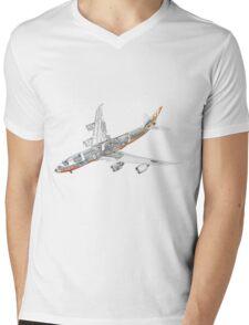 Boeing 747-800 intercontinental Mens V-Neck T-Shirt