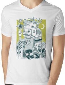 Leave your town and follow me Mens V-Neck T-Shirt