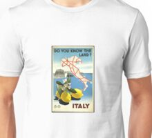 Vintage poster of Italy Unisex T-Shirt
