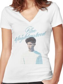 Blue Neighborhood Lyrics  Women's Fitted V-Neck T-Shirt