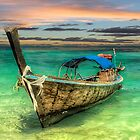 Longboat Sunset by Adrian Evans