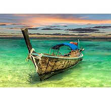Longboat Sunset Photographic Print