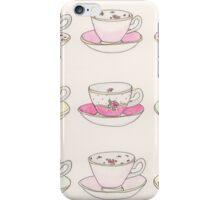 Pastel Teacups iPhone Case/Skin