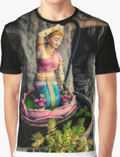 Temple Lady Statue Graphic T-Shirt