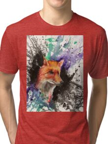 Fox of Many Colors Tri-blend T-Shirt