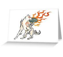 Okami Amaterasu Greeting Card