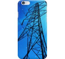 Pylongated - Colour image of a Pylon with stars iPhone Case/Skin