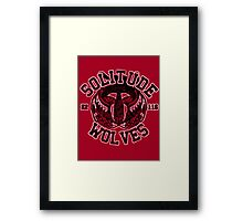 Solitude Wolves - Skyrim - Football Jersey Framed Print