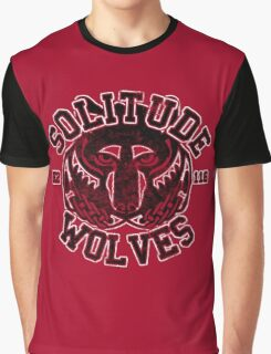 Solitude Wolves - Skyrim - Football Jersey Graphic T-Shirt