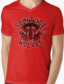 Solitude Wolves - Skyrim - Football Jersey Mens V-Neck T-Shirt