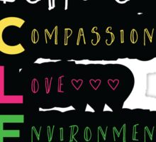 Veganism - The Choice is Clear Sticker