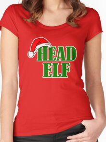 Christmas Head Elf Women's Fitted Scoop T-Shirt