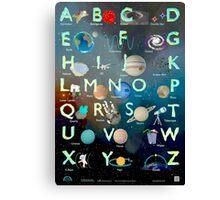 The Alex Astronaut ABC - Alphabet Poster Canvas Print