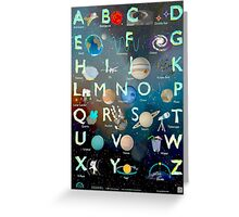The Alex Astronaut ABC - Alphabet Poster Greeting Card