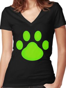 Chat Paw Women's Fitted V-Neck T-Shirt