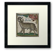 Aries 16th Century Woodcut Framed Print