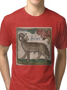Aries 16th Century Woodcut Tri-blend T-Shirt