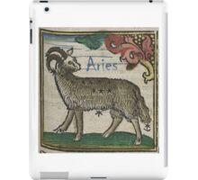 Aries 16th Century Woodcut iPad Case/Skin