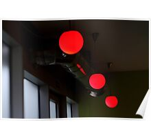Red Bubbles Poster