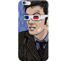 Tardis Tennant ThreeDee Ten iPhone Case/Skin