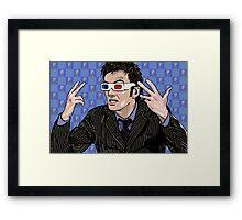 Tardis Tennant ThreeDee Ten Framed Print