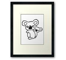 sweet little baby koala cute mamapapa child holds family itself Framed Print