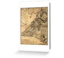 American Revolutionary War Era Maps 1750-1786 223 A plan of the city of New York & its environs to Greenwich on the north or Hudsons River and to Crown Point Greeting Card