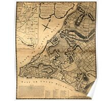 American Revolutionary War Era Maps 1750-1786 223 A plan of the city of New York & its environs to Greenwich on the north or Hudsons River and to Crown Point Poster