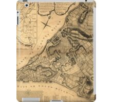 American Revolutionary War Era Maps 1750-1786 223 A plan of the city of New York & its environs to Greenwich on the north or Hudsons River and to Crown Point iPad Case/Skin