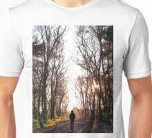 Man Walking Through the Forest Unisex T-Shirt