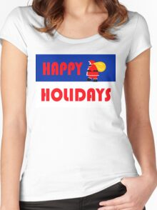 HAPPY HOLIDAYS 15 Women's Fitted Scoop T-Shirt