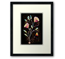 Yellow flowers in space Framed Print