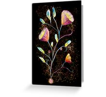 Yellow flowers in space Greeting Card