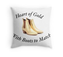 An ode to Harry and his Gold Boots Throw Pillow