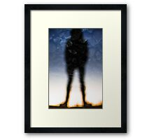 Reflection of a Man Framed Print