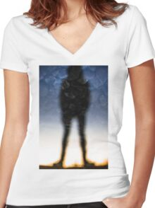 Reflection of a Man Women's Fitted V-Neck T-Shirt