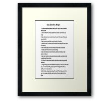 The 12 Steps (12 Traditions also Available in wall size) Framed Print