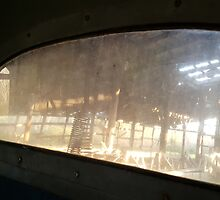 View Through the Rear Window of a 1968 White Diesel by Rusty Gentry