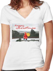 HAPPY CHRISTMAS 23 Women's Fitted V-Neck T-Shirt