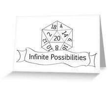 Infinite Possibilities D20 Greeting Card