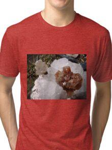 White & Brown Crystals Tri-blend T-Shirt