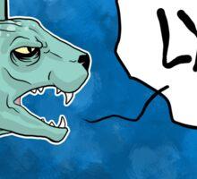 Lying Cat Comic Panel Sticker