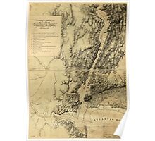 American Revolutionary War Era Maps 1750-1786 272 A sketch of the operations of His Majesty's fleet and army under the command of Vice Admiral the Rt Hble Poster