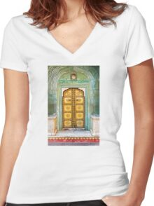 City Palace Door Women's Fitted V-Neck T-Shirt