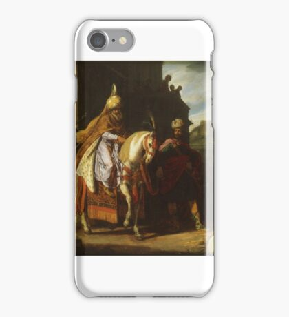Esther's Jewish foster father, Mordecai, thwarted a conspiracy against King Ahasuerus iPhone Case/Skin