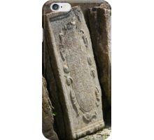 broken tombstone old cemetery iPhone Case/Skin