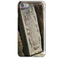 broken tombstone old cemetery iPhone Case/Skin