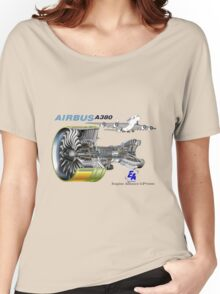 Airbus A 380 GP7000 Engine Women's Relaxed Fit T-Shirt