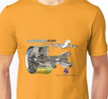 Airbus A 380 GP7000 Engine Unisex T-Shirt