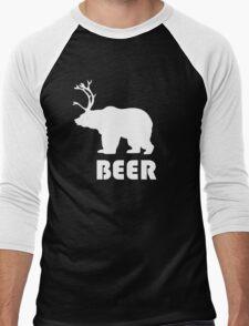 Beer Bear Men's Baseball ¾ T-Shirt